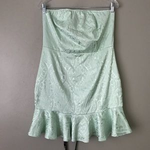 NWT Pretty Little Thing damask strapless dress